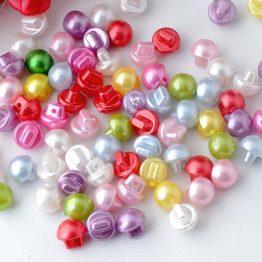 botones nacarados perla