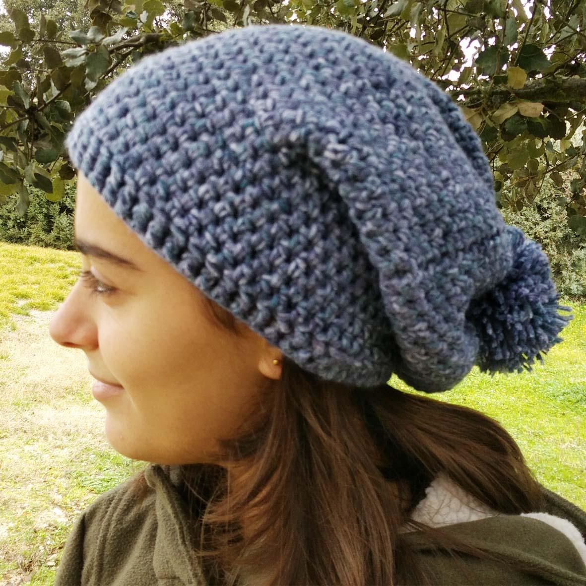 Patrón slouchy beanie - Tienda Crochet Gloriarte
